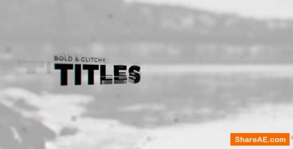 Videohive Black Glitch