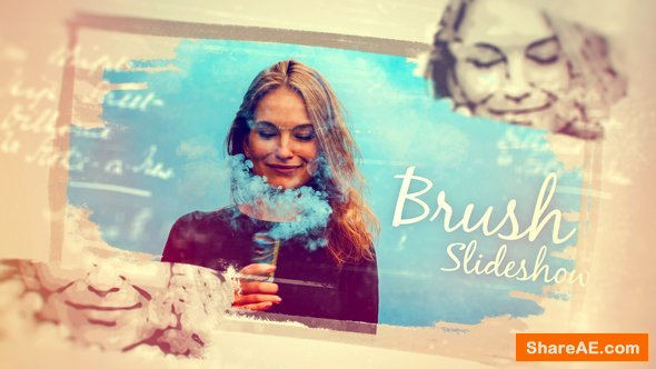 Videohive Hand Drawn Photo Brush Slideshow