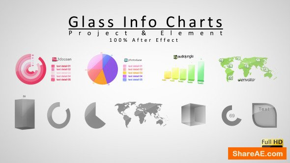 Videohive Glass Info Charts
