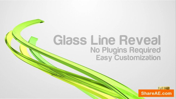 Videohive Glass Line Reveal