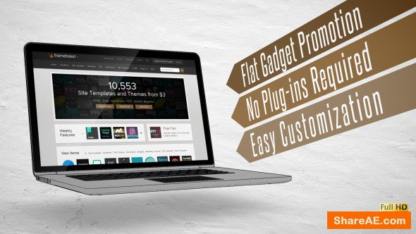 Videohive Flat Gadget Promotion
