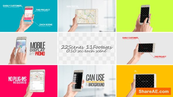 Videohive Mobile Display For App Promo