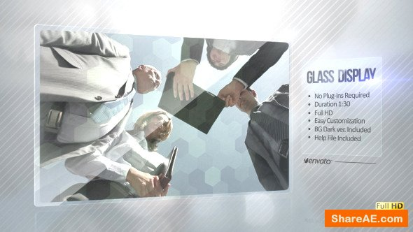 Videohive Glass Video Display