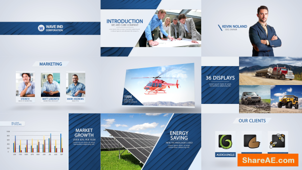 Videohive Wave - Corporate Video Package