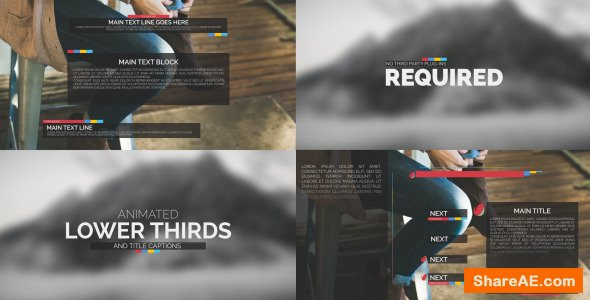 Videohive Typography Package - Lower Thirds and Titles