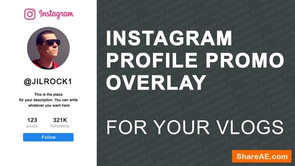 Videohive Instagram Profile Promo Overlay