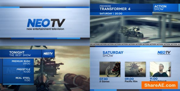 Videohive Broadcast Lines Pack