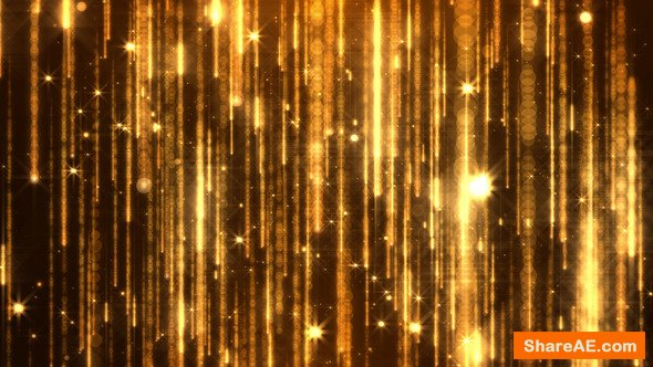 Videohive Golden Particles
