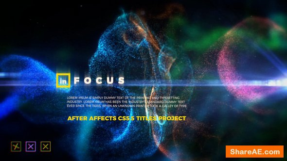 Videohive In Focus - Particle Titles