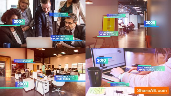 Videohive Modern Corporate Timeline Presentation