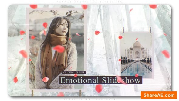 Videohive Petals Emotional Slideshow