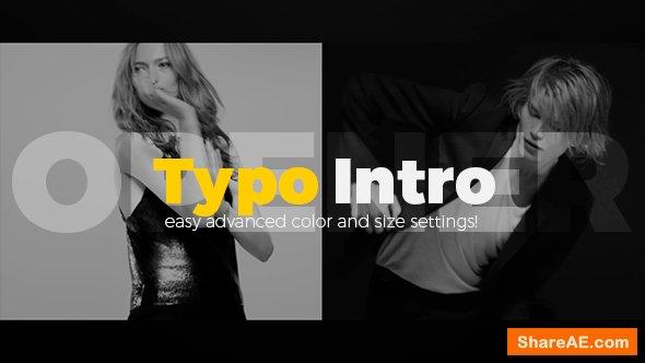 Videohive Typo Intro Opener