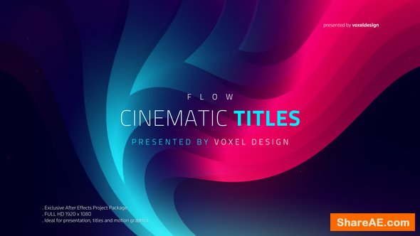 Videohive FLOW - Cinematic Titles