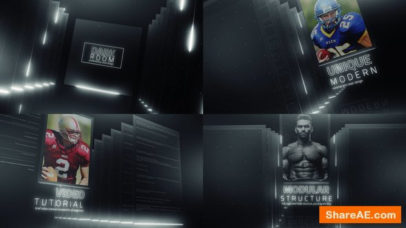 Videohive Dark Room Sports Cinematic Titles