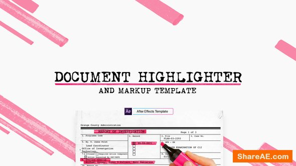 Videohive Document Highlighter