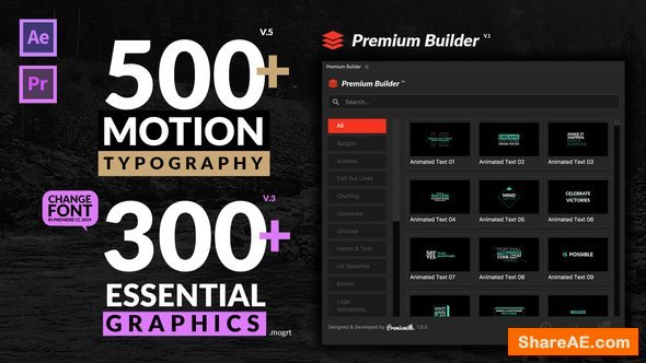 Videohive Motion Typography v5 20645019 [Last Update 4 February 19]