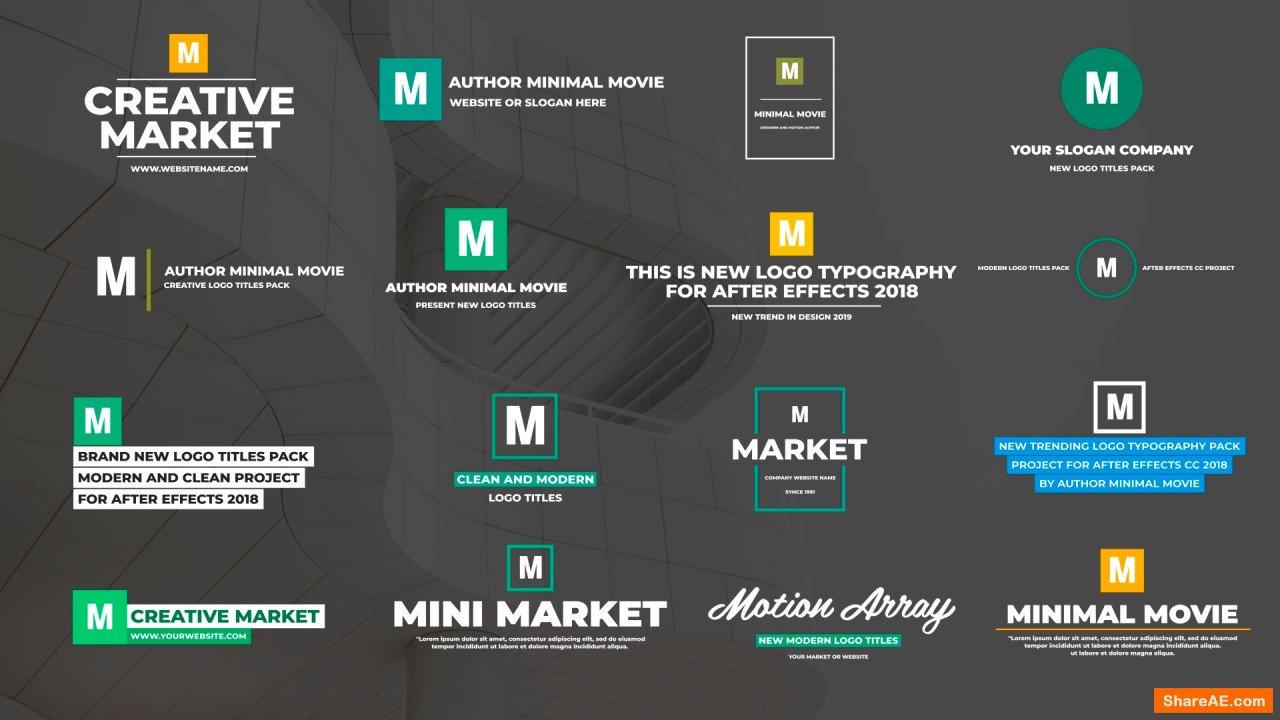 Modern Logo Titles (Motion Array)
