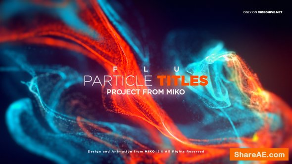 Videohive FLU - Particles Titles