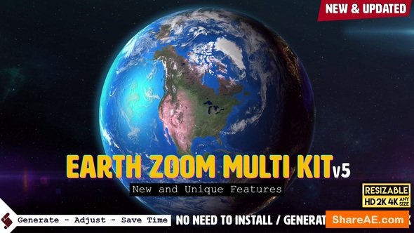 Videohive Earth Zoom Pro Kit v5