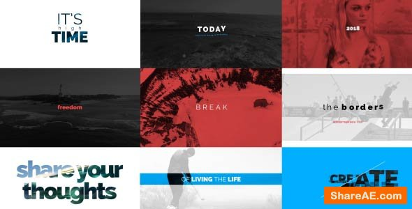 Videohive Fast Stomp Typography