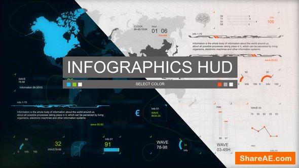 Videohive Infographics HUD set 3
