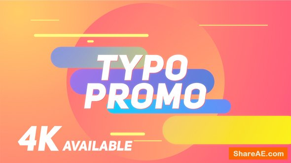 Videohive Short Typo Promo