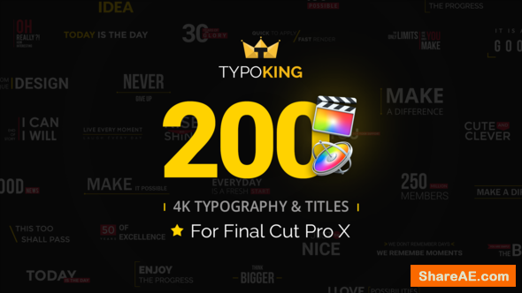 Videohive TypoKing - Animated Titles for Final Cut Pro X