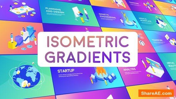Videohive Isometric Gradient Concepts