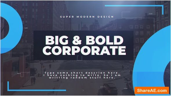 Videohive Big & Bold Corporate