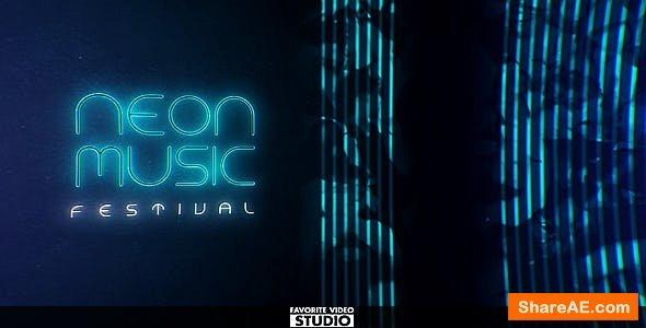 Videohive Neon Music Event