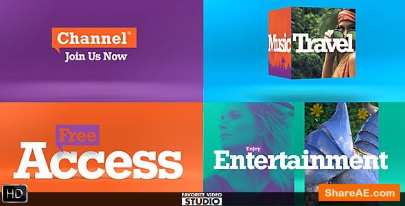 Videohive Colorful Broadcast Pack