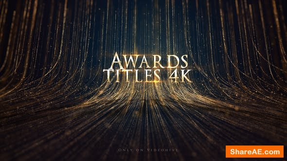 Videohive Awards Titles 4K and Awards Background Loop 4K