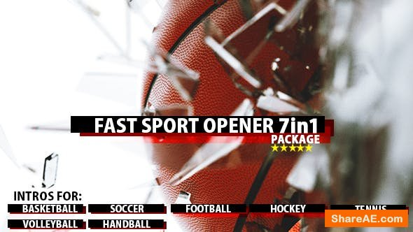 Videohive Fast Sport Ball Opener 7in1