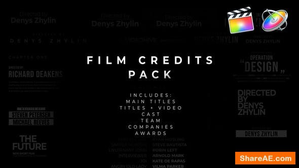 Videohive Film Credits Pack for Apple Motion and FCPX