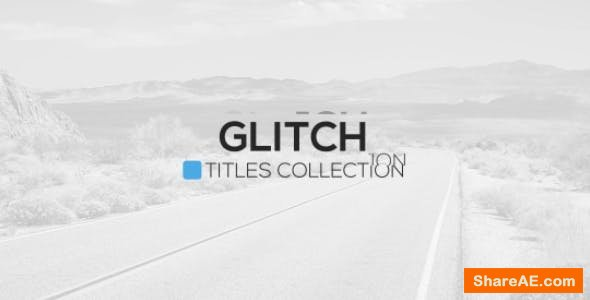 Videohive Glitch Titles Package