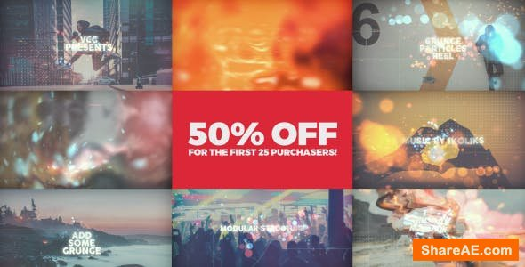 Videohive Grunge Particles Reel