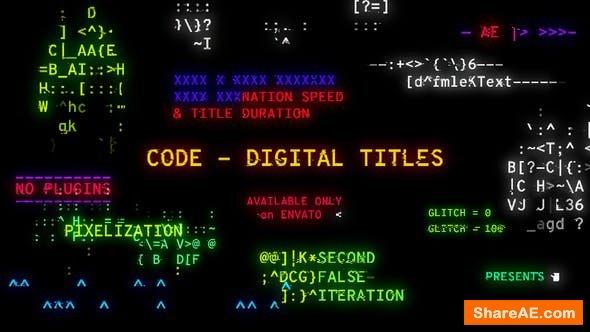 Videohive Code - Digital Titles