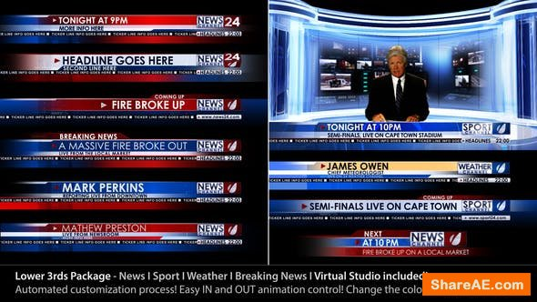 Videohive Broadcast Design - News Lower Third Package1