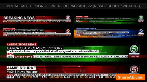 Videohive Broadcast Design - News Lower Third Package 2
