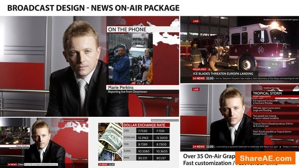 Videohive Broadcast Design - News On-Air Package