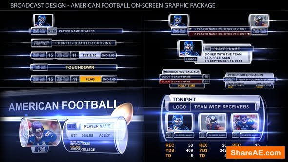 Videohive Broadcast Design - Sport on-screen graphic package