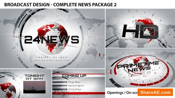 Videohive Broadcast Design - Complete News Package 2
