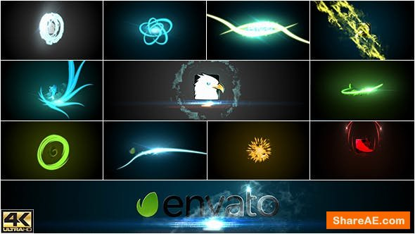 Videohive Fast Smoky Streaks Logo Sting Pack 19411780