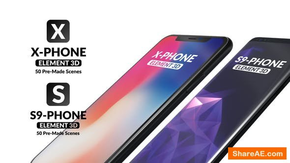 Videohive X-Phone Promo For Element 3D + S9