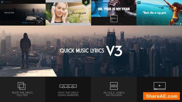 Videohive Quick Music Lyrics - V3