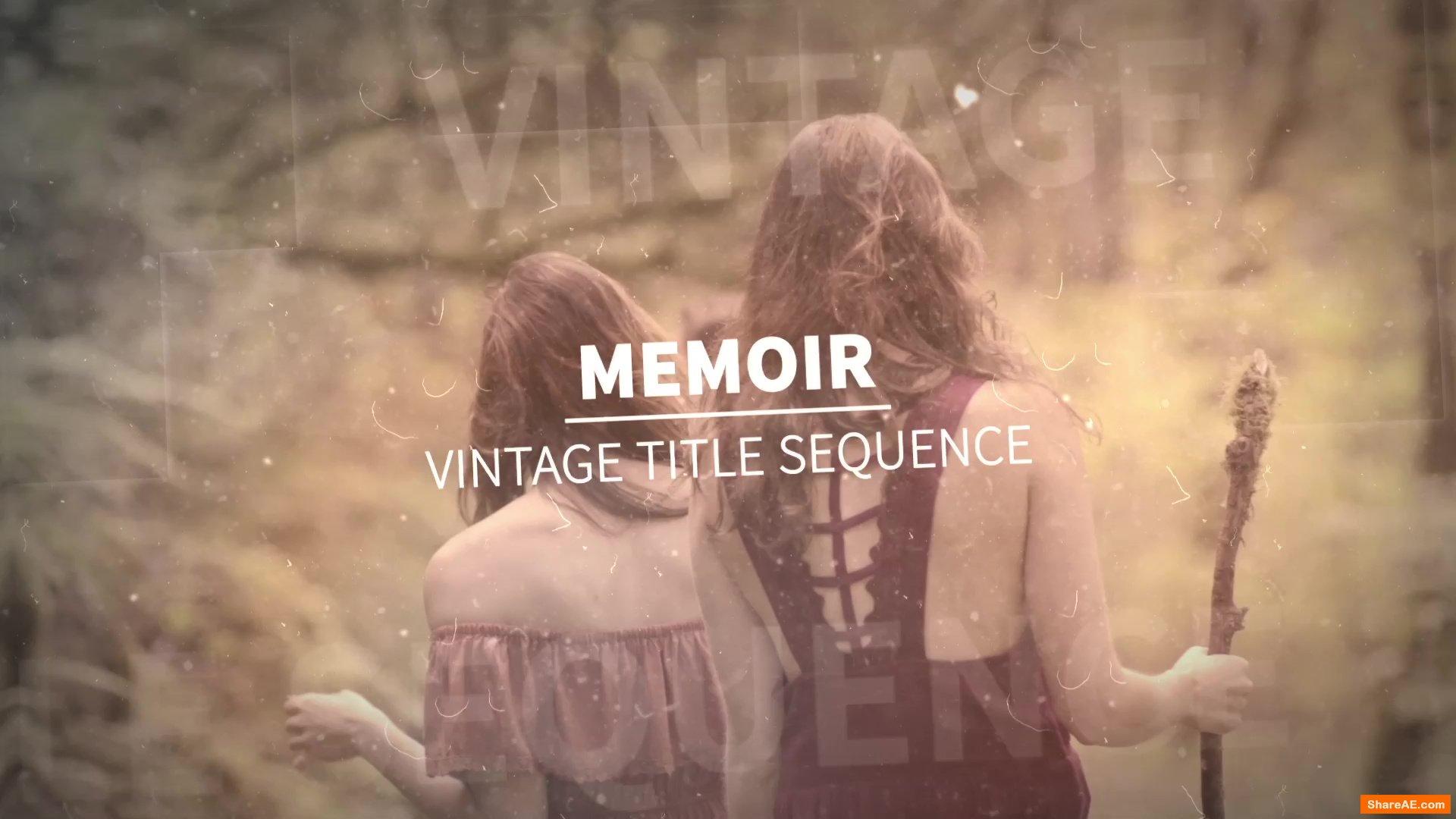 Memoir - Vintage Title Sequence (RocketStock)