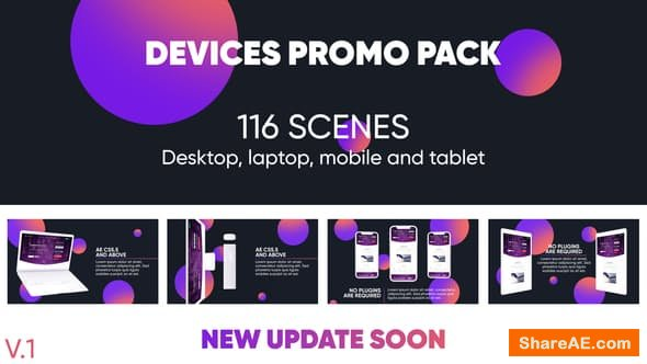 Videohive Devices Website Promo Pack