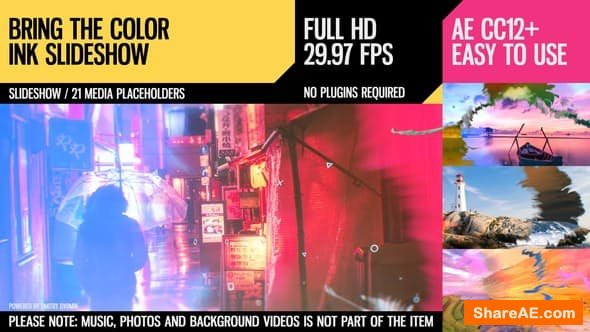 Videohive Bring the Color (Ink Slideshow)