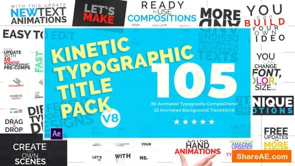 Kinetic Typography Pack V.8 7224203 - After Effects Project (Videohive)