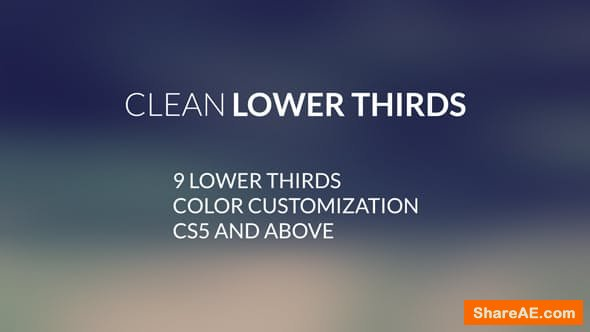 Videohive Clean LowerThirds